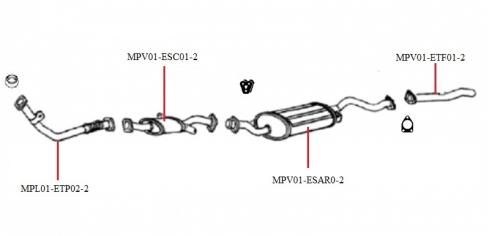 Endschalldämpfer du silencieux d/'échappement arrière MITSUBISHI Pajero II 2,5td 4x4 90-00